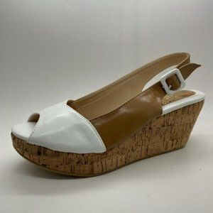 Ladies No! Shoes Fitz Camel White Platform NEW